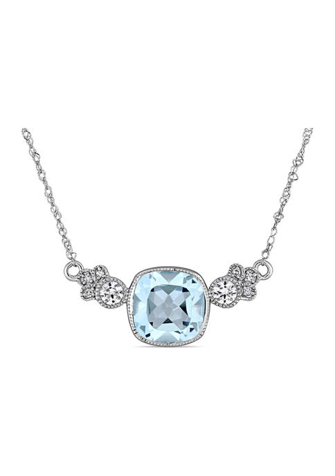 Belk & Co. Blue Topaz, Created White Sapphire
