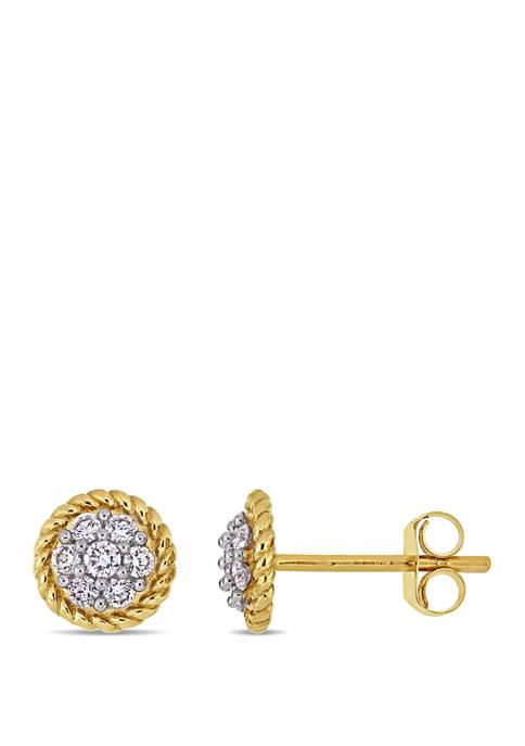 Belk & Co. 1/4 ct. t.w. Diamond Floral