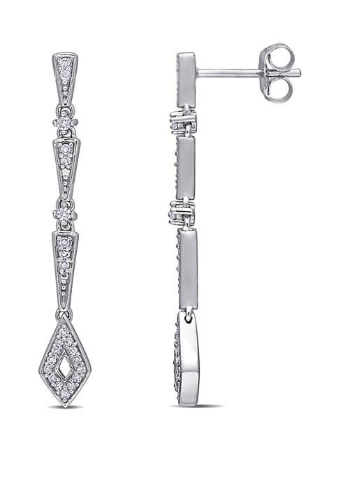 1/5 ct. t.w. Diamond Dangle Earrings in 10K White Gold