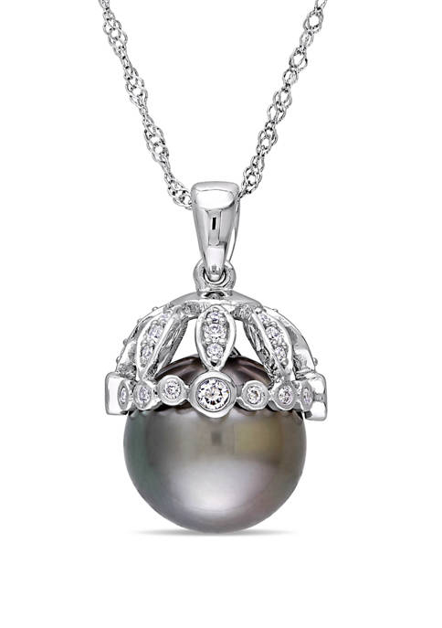 Belk & Co. Pearl and 1/4 ct. t.w.