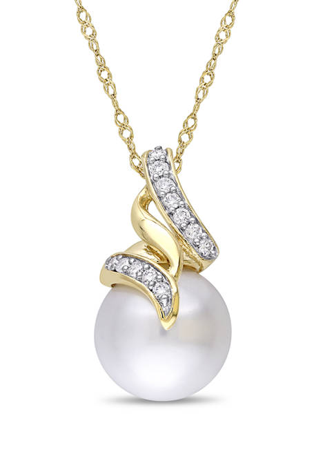 Belk & Co. Pearl and 1/10 ct. t.w.