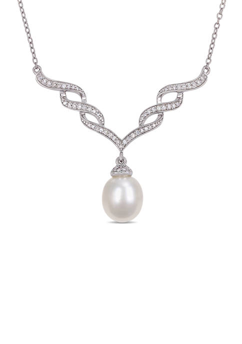 Belk & Co. Cultured Freshwater Pearl and 1/4