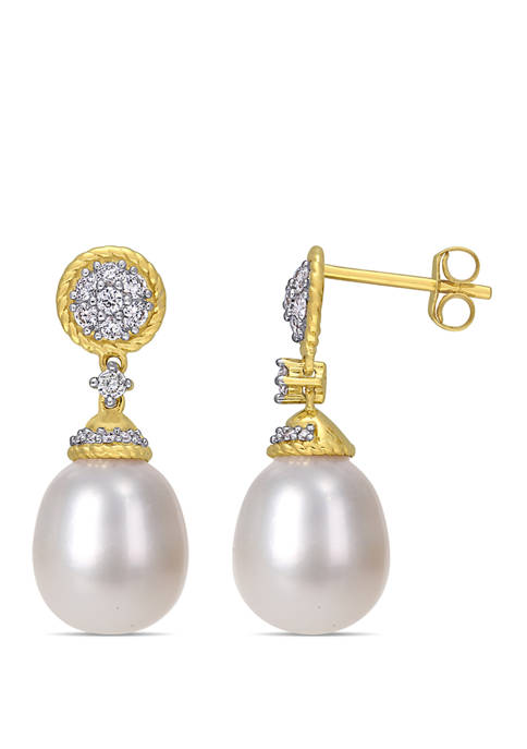 Belk & Co. Pearl and 1/3 ct. t.w.