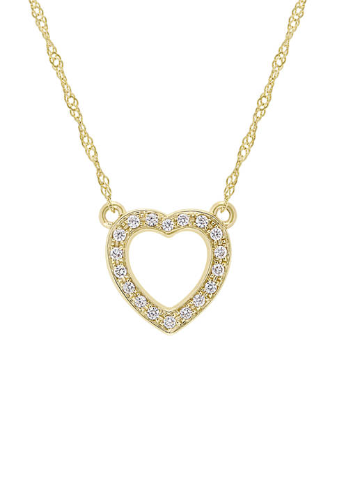 Belk & Co. 1/10 ct. t.w. Diamond Heart