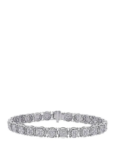 2.88 ct. t.w. Diamond Tennis Bracelet in 14K White Gold