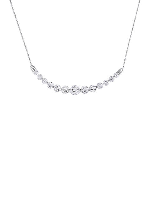 5 ct. t.w. Lab Created White Sapphire Bar Necklace in 10K White Gold