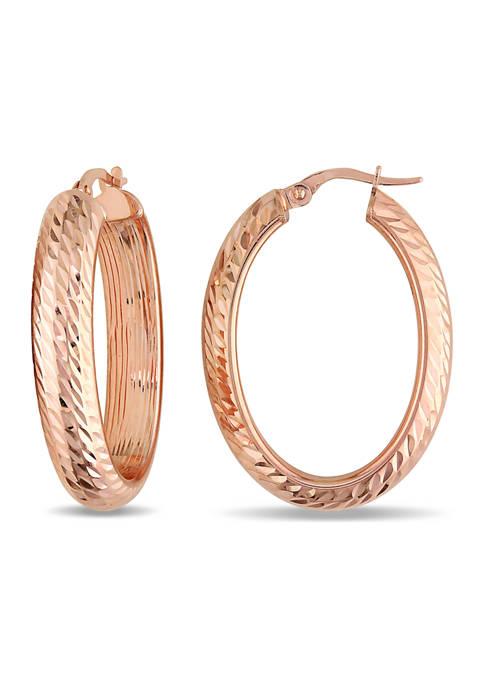 Belk & Co. Hoop Earrings in 10K Rose