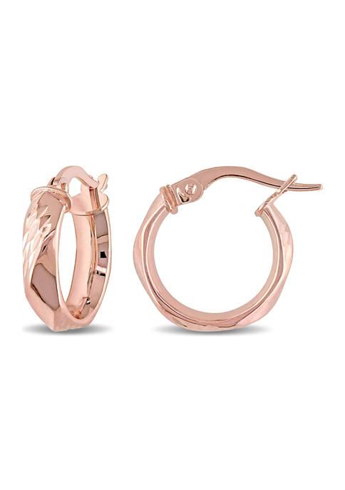 Belk & Co. Twist Hoop Earrings in 10K
