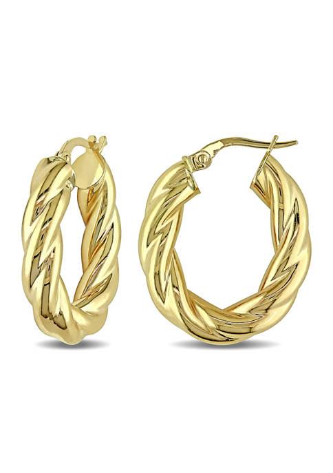 Belk & Co. Entwined Hoop Earrings in 10K