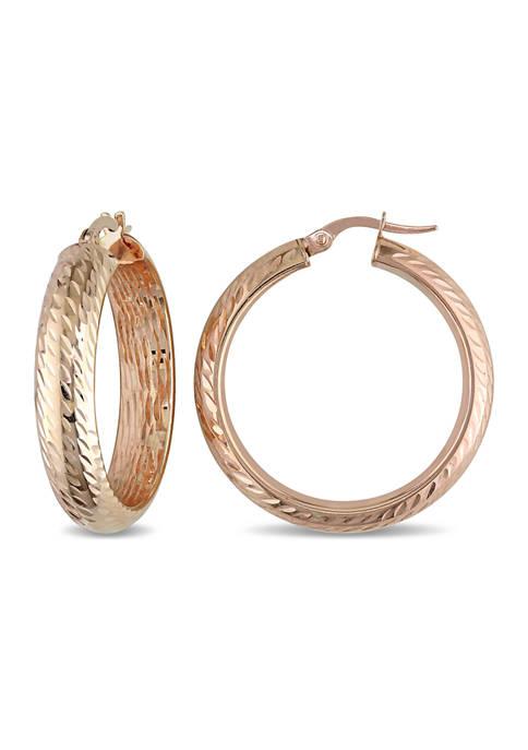 Belk & Co. Hinged Hoop Earrings in Textured