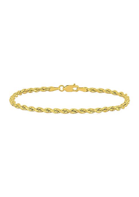 Belk & Co. Rope Chain Bracelet in 14k