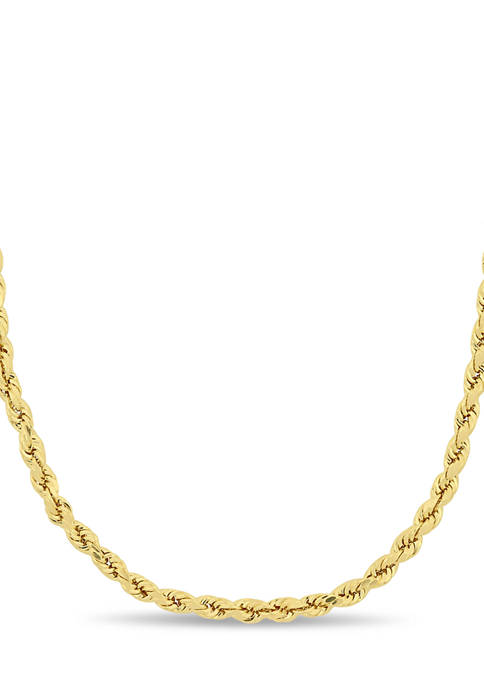 Belk & Co. 3 Millimeter Rope Chain Necklace