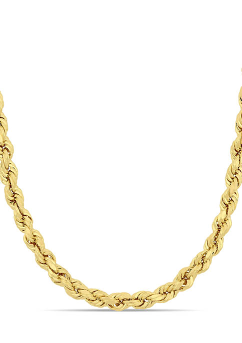 Belk & Co. 5 Millimeter Rope Chain Necklace