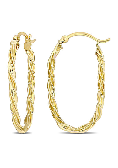 Belk & Co. Twist Hoop Earrings in 14k