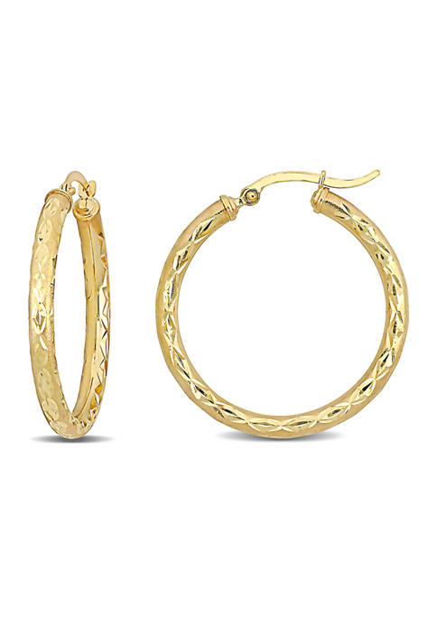 Belk & Co. 32 Millimeter Design Hoop Earrings