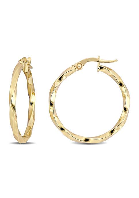 Belk & Co. 24 Millimeter Twisted Hoop Earrings