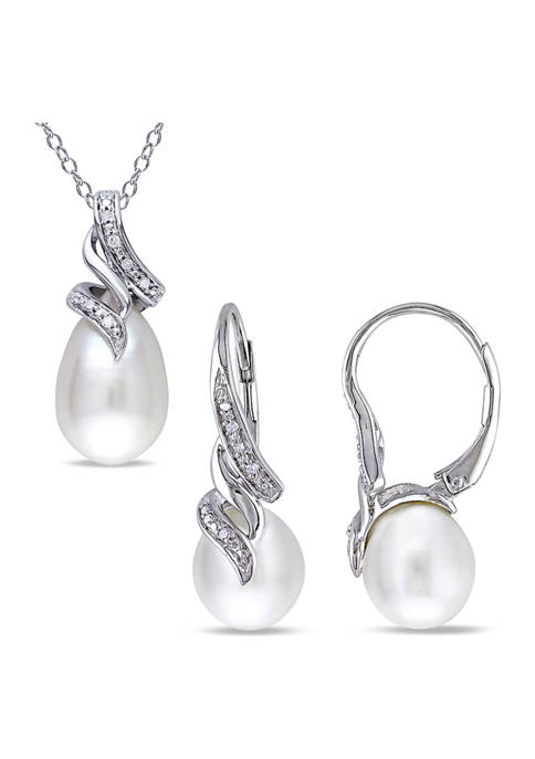 Belk & Co. 2-Piece Set Cultured Freshwater Pearl