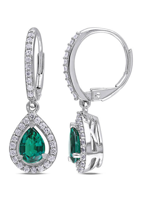Belk & Co. Lab Created Emerald and White