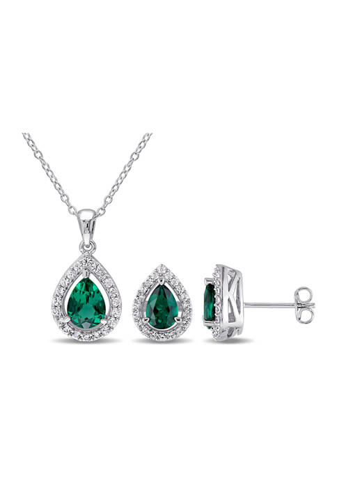 Belk & Co. 2-Piece Created Emerald and Created