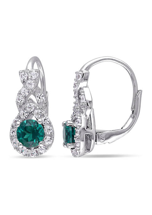 Belk & Co. Created Emerald and White Sapphire