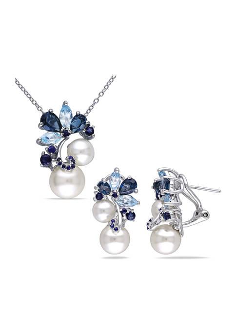 Belk & Co. 2-Piece Set Blue Topaz, Sapphire