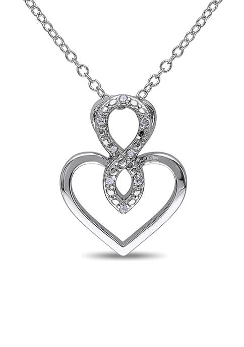 Belk & Co. Diamond Accent Infinity Heart Pendant