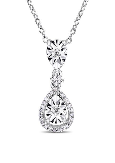 Belk & Co. 1/5 ct. t.w. Diamond Teardrop