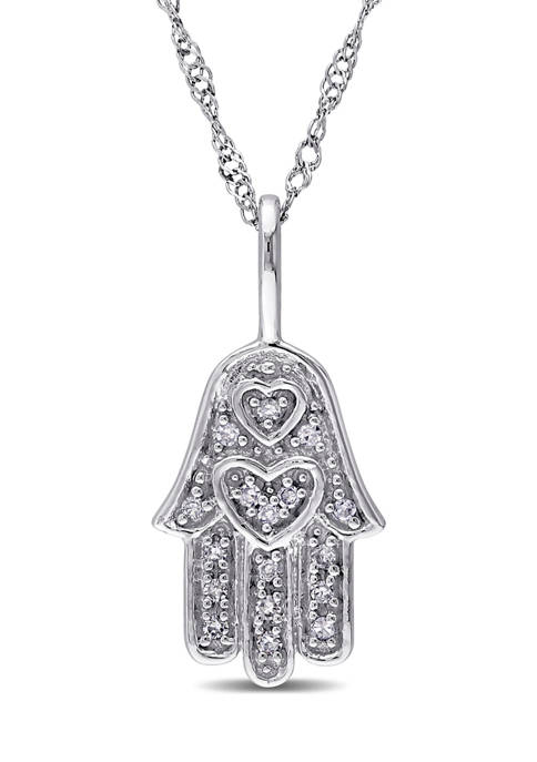 Belk & Co. Diamond Accent Hamsa Pendant with