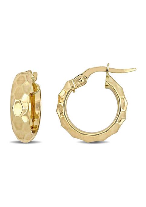 Belk & Co. Faceted 15 mm Hoop Earrings