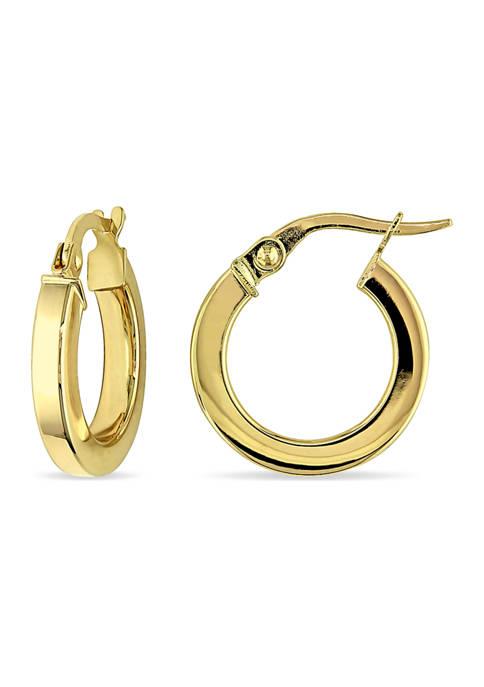 Belk & Co. 15 mm Hoop Edged Earrings