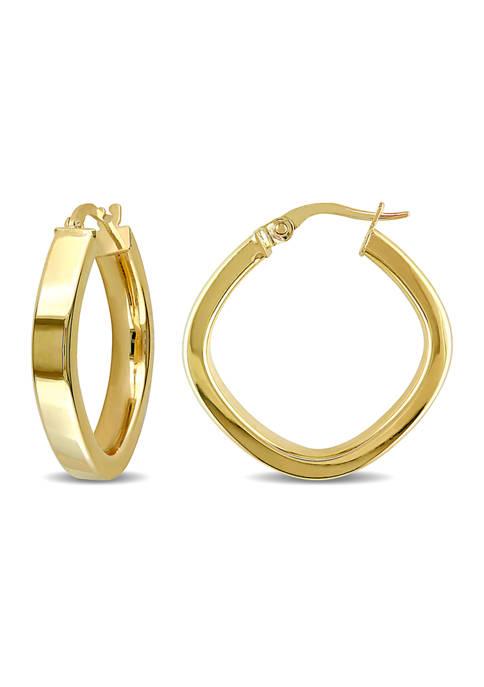 Belk & Co. Geometric 23 mm Hoop Earrings