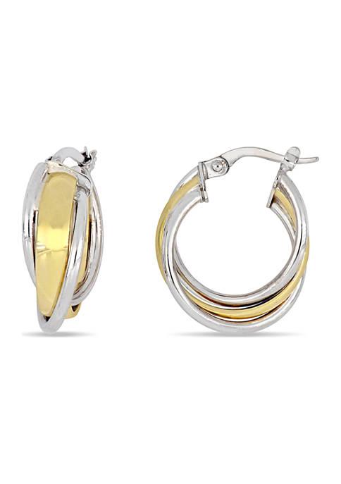 Belk & Co. Crossover 18 mm Hoop Earrings