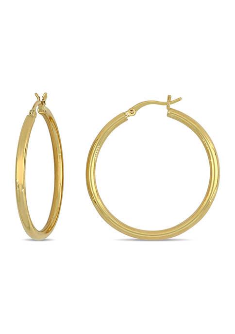 Belk & Co. 35 Millimeter Flat Hoop Earrings