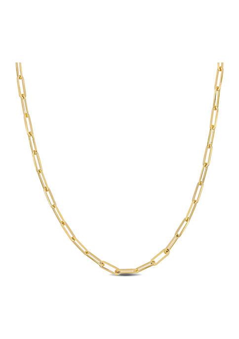 Belk & Co. Oval Link Necklace in 14k