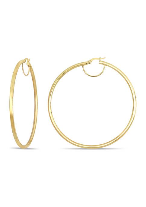 Belk & Co. 70 mm Polished Hoop Earrings