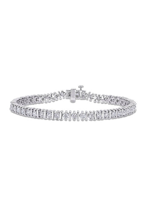 4.6 ct. t.w. Created Moissanite Tennis Bracelet in Sterling Silver