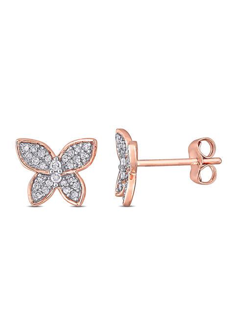 Belk & Co. 1/5 CT TW Diamond Butterfly