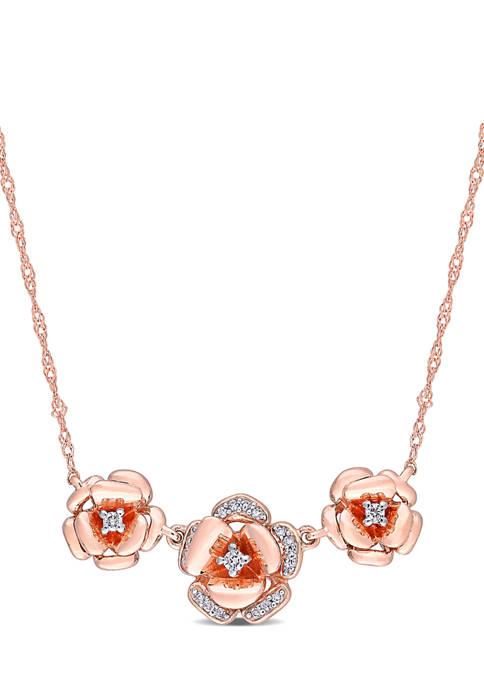 Belk & Co. 1/10 ct. t.w. Diamond Floral