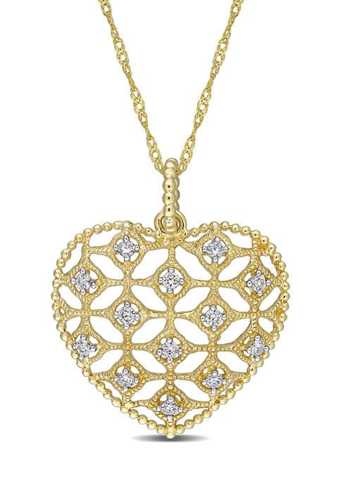 Belk & Co. 1/5 ct. t.w. Diamond Lace