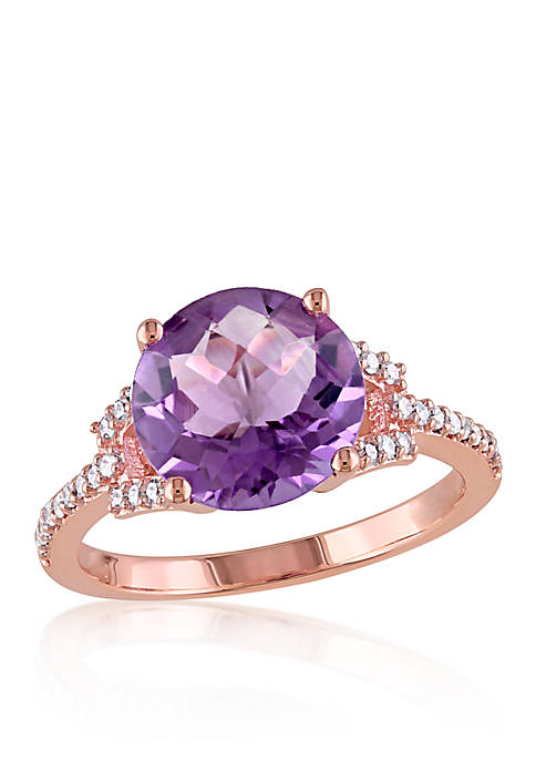 Belk & Co. Amethyst and Diamond Ring in