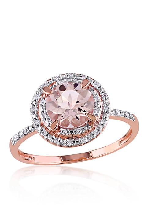 Belk & Co. Morganite and Diamond Ring in