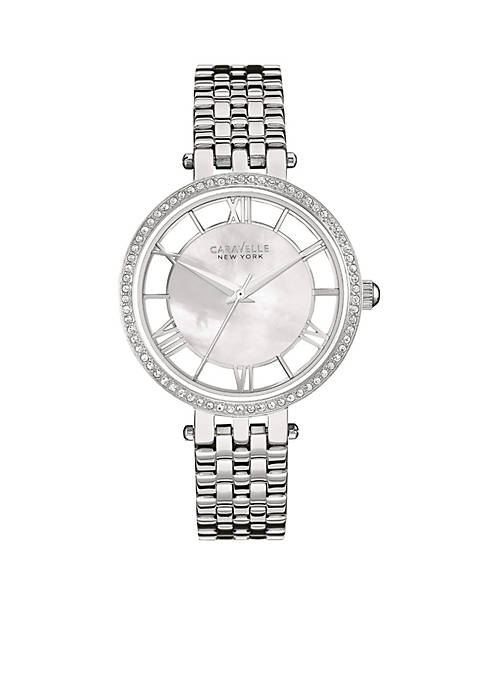 Caravelle New York Womens Stainless Steel Crystal Watch