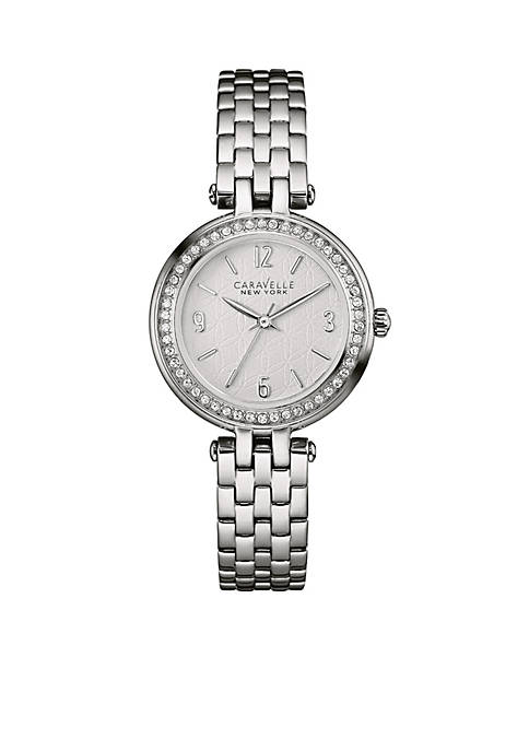 Caravelle New York Womens Stainless Steel Watch