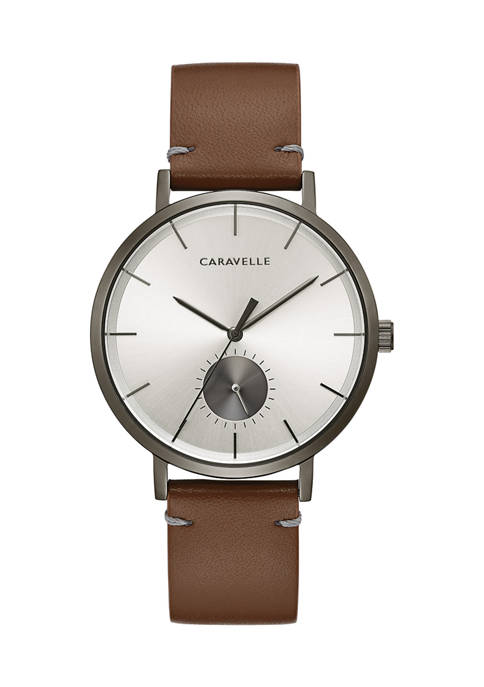 Caravelle New York Mens Min/Max Strap Watch
