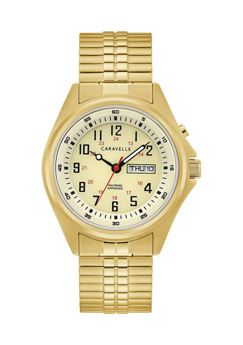 Caravelle New York Mens Traditional Expansion Watch