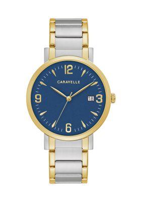 Caravelle New York Mens Dress Bracelet Watch