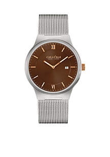 Men's Stainless Steel Mesh Watch