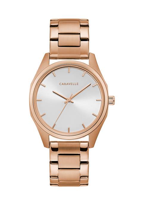 Caravelle New York Womens Min/Max Bracelet Watch