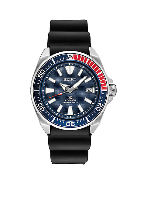 Seiko Mens Stainless Steel Automatic Prospex Diver Silicone
