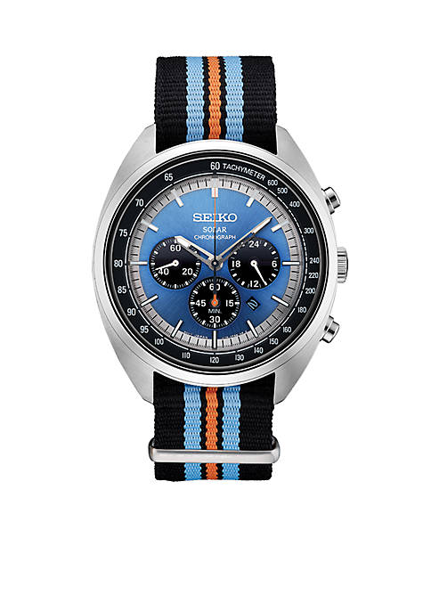Seiko Stainless Steel Solar Chronograph Recraft Series Stripe
